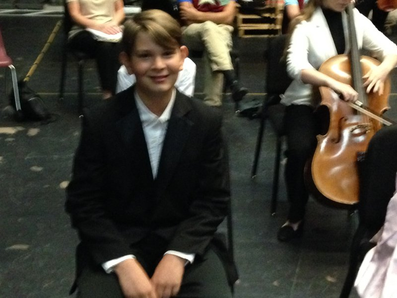 Evan backstage for Honors Recital CSI 2016