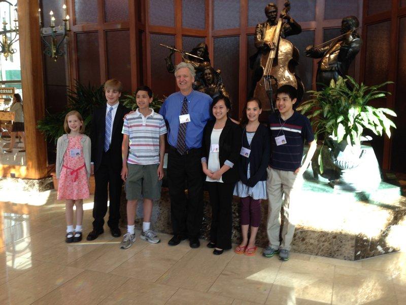 Suzuki Conference 2014, dinnerwith Brian Ganz