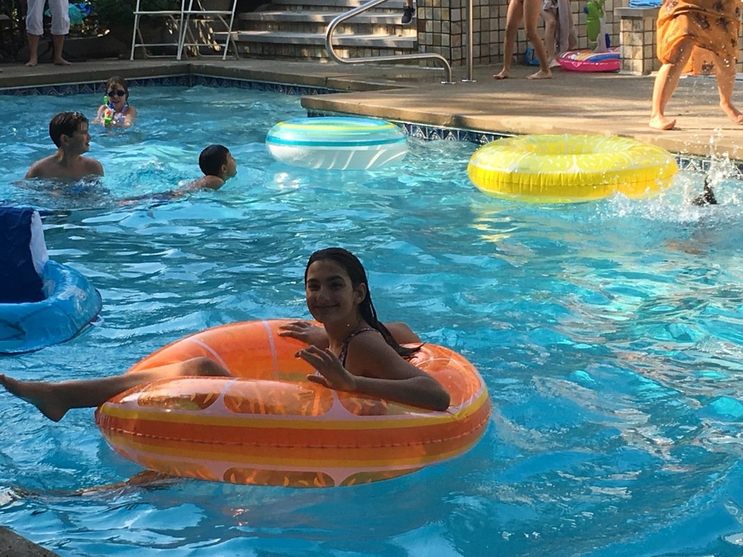 Morgan and pool party 92017jpg